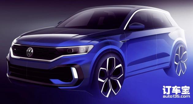 日内瓦车展首发 大众发布T-ROC R预告图