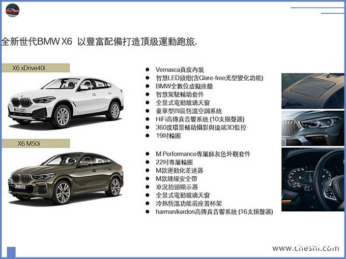 宝马全新X6开启预售下月亮相尺寸超奔驰GLE-图2